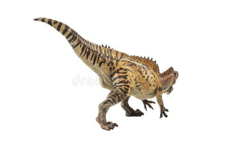 Acrocanthosaurus, δεινόσαυρος στο άσπρο υπόβαθρο στοκ εικόνα