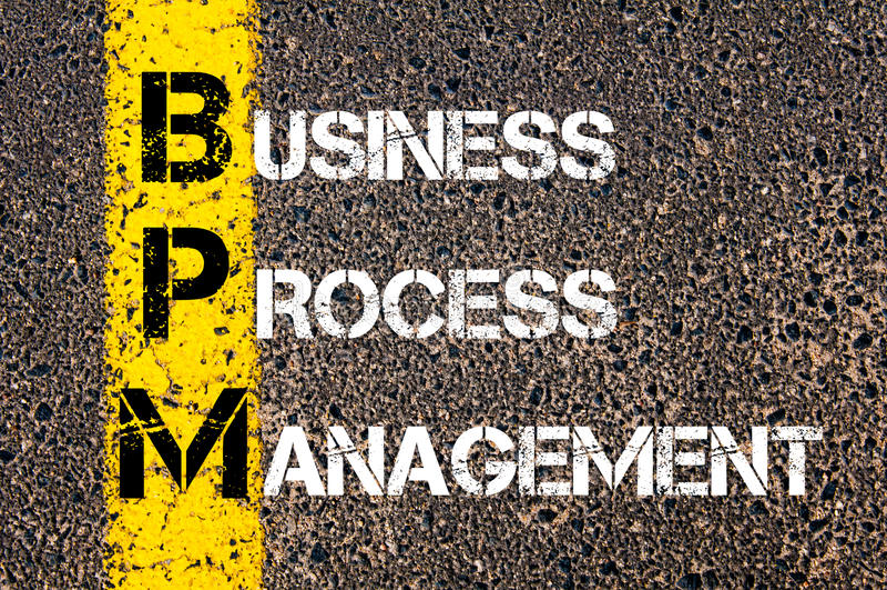 Acroniem BPM - Bedrijfsprocesbeheer royalty-vrije stock foto's