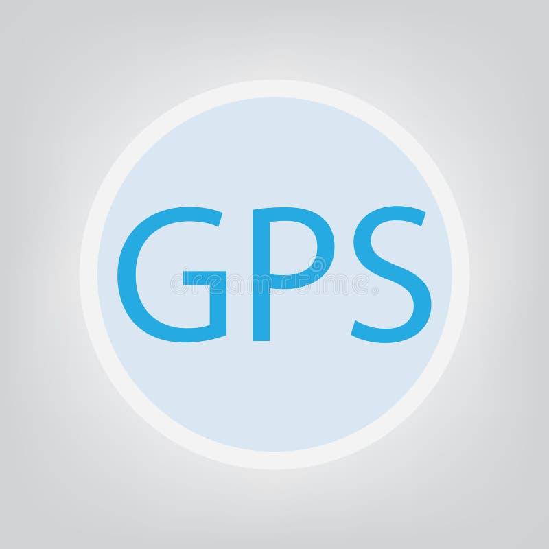 Acronimo del sistema di posizionamento globale di GPS illustrazione vettoriale