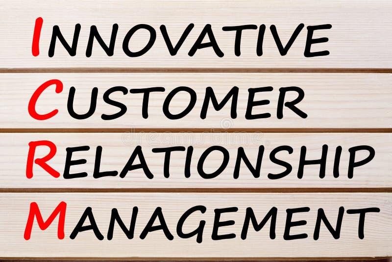 Acronimo innovatore del customer relationship management immagine stock libera da diritti