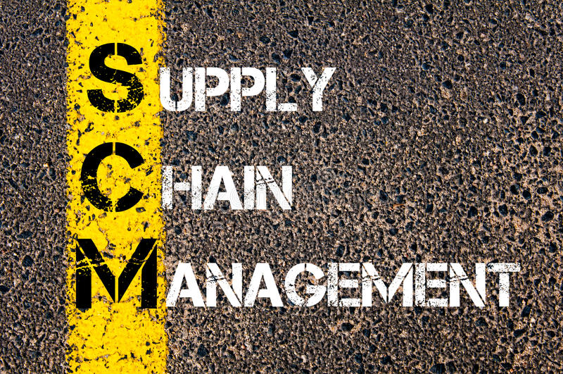 Acronym SCM- Supply Chain Management royalty free stock image