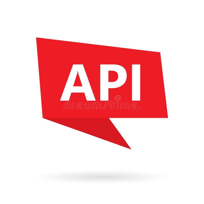 Acronyme d'interface de programmation API pour commandes Tempus-link d'api sur une bulle de la parole illustration libre de droits