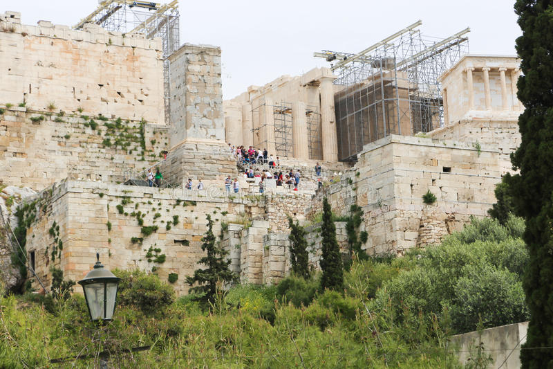 Download Acropole Athènes image stock. Image du aménagement, conception - 56479645