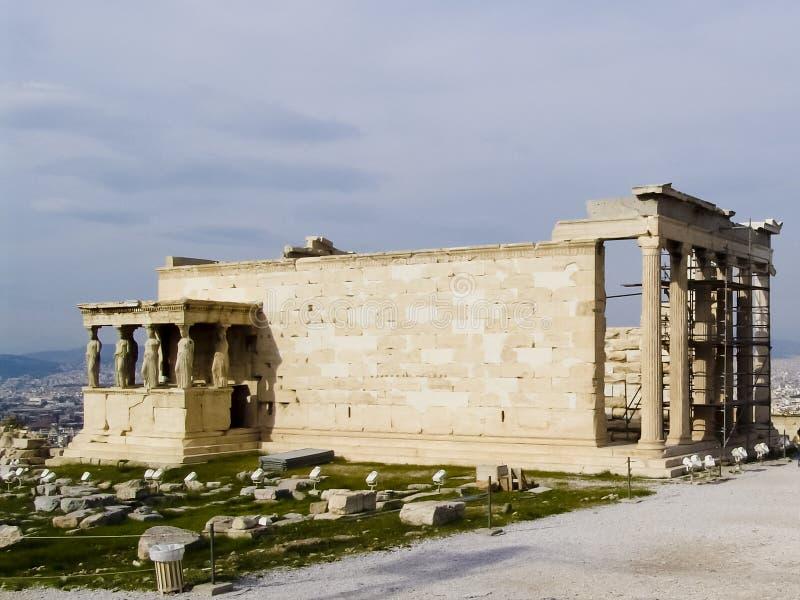 Acropole d'Athen avec le temple de parthenon image libre de droits