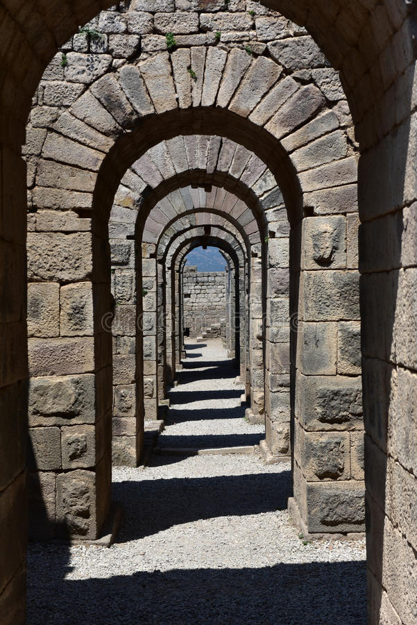 Acropole du Pergamon images libres de droits