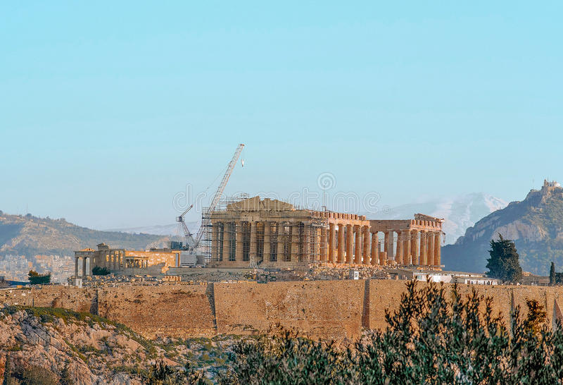 Acropole grecque image stock