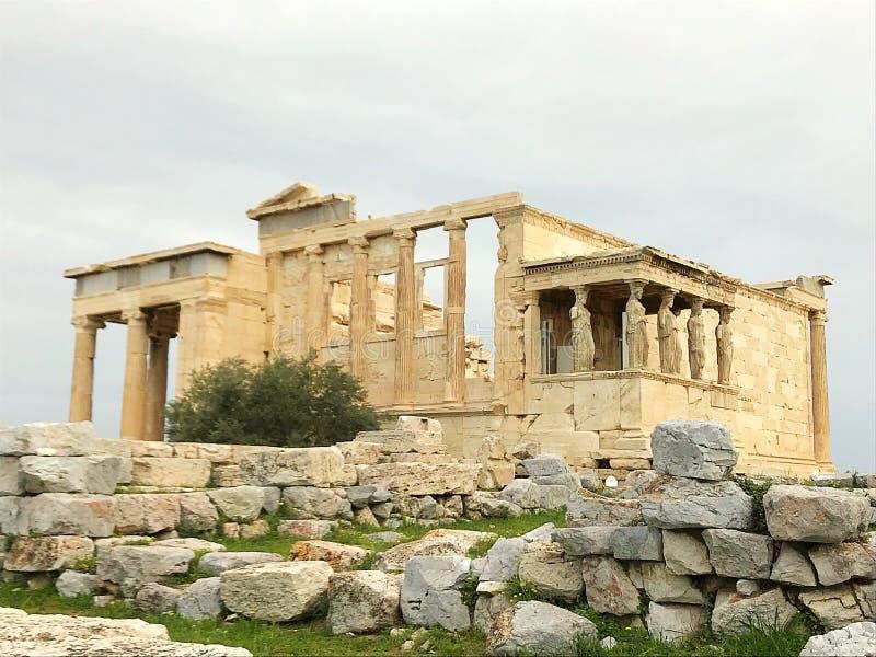 Acropole O Erechtheion imagem de stock royalty free