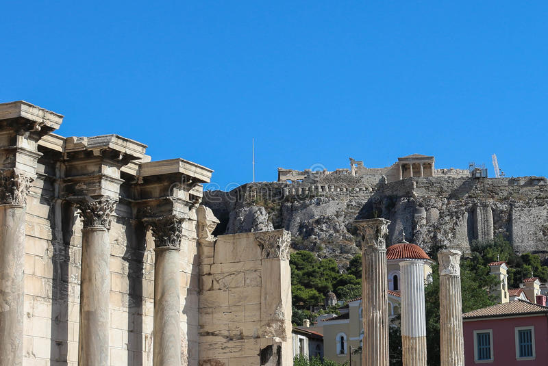 Acropole - parthenon images stock