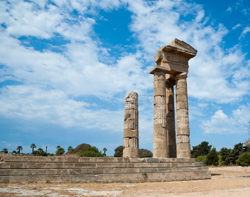 Acropole Rhodes photographie stock