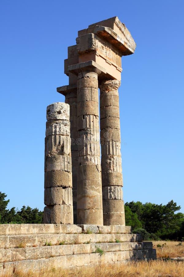 Acropole sur Rhodes photographie stock libre de droits