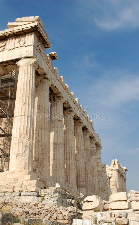Acropoli a Atene immagine stock