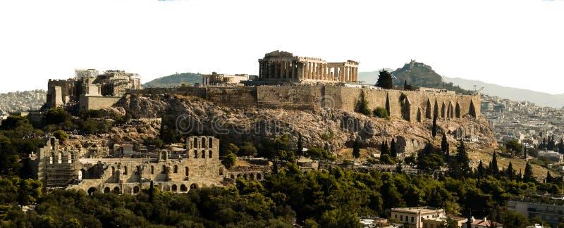 Acropoli del Partenone a Atene Grecia immagine stock libera da diritti