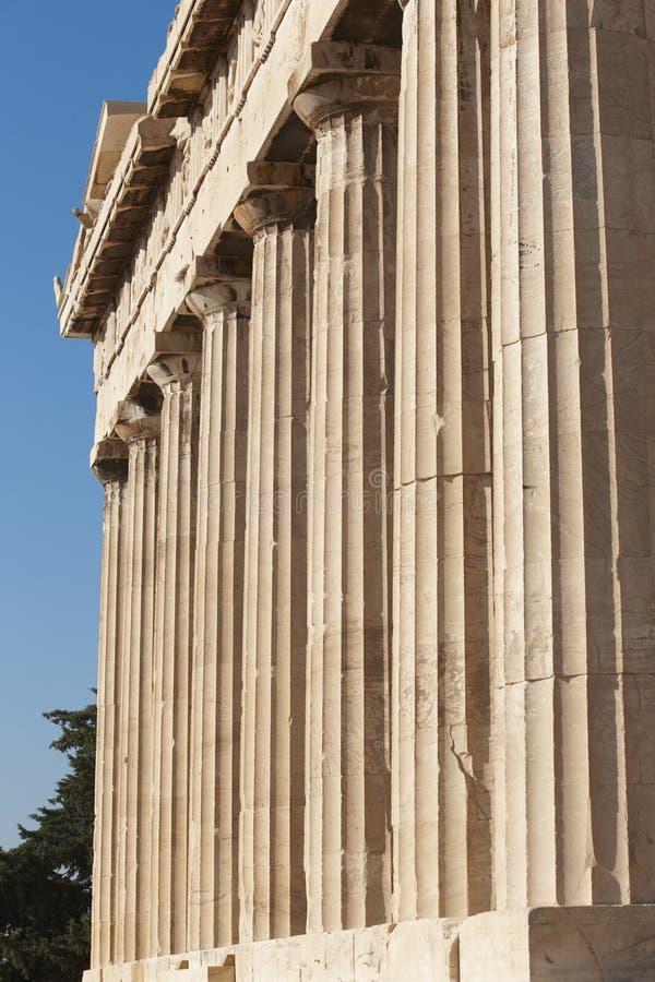 Acropoli di Atene Colonne del Partenone La Grecia fotografia stock libera da diritti