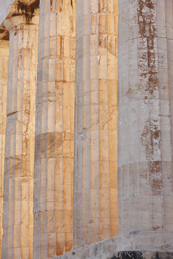 Acropoli di Atene Colonne del Partenone La Grecia fotografie stock libere da diritti