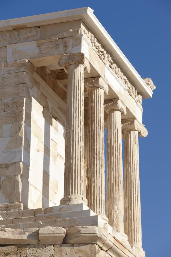 Acropoli di Atene Fine di Cariathides in su La Grecia fotografia stock