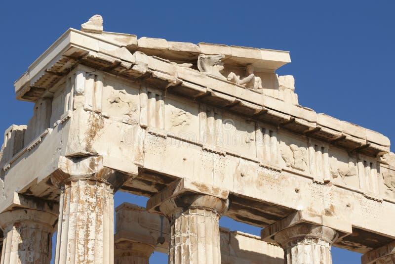 Acropoli di Atene Fregio del Partenone La Grecia fotografie stock libere da diritti