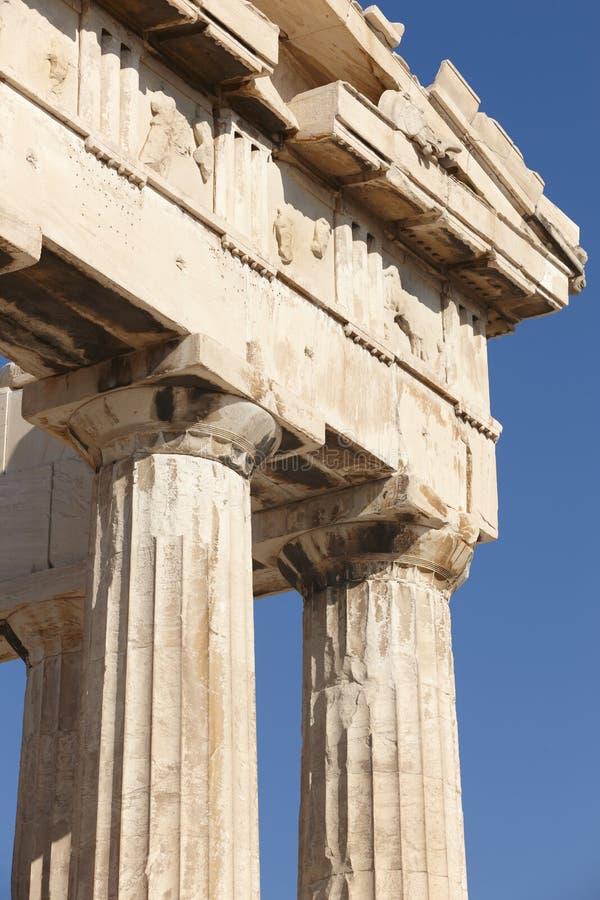 Acropoli di Atene Fregio del Partenone La Grecia fotografia stock