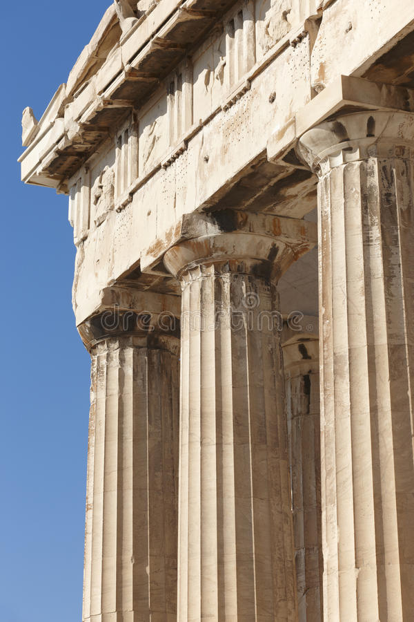 Acropoli di Atene Fregio del Partenone La Grecia immagine stock