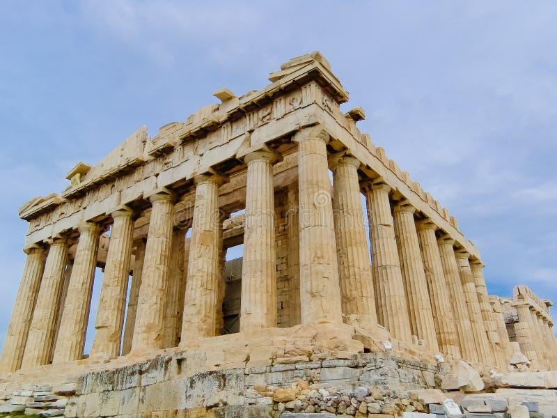 Acropoli di Athen con il tempiale del Parthenon fotografia stock