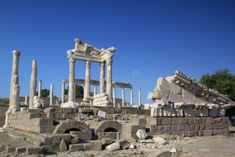 Acropoli di Bergama, Turchia fotografia stock libera da diritti