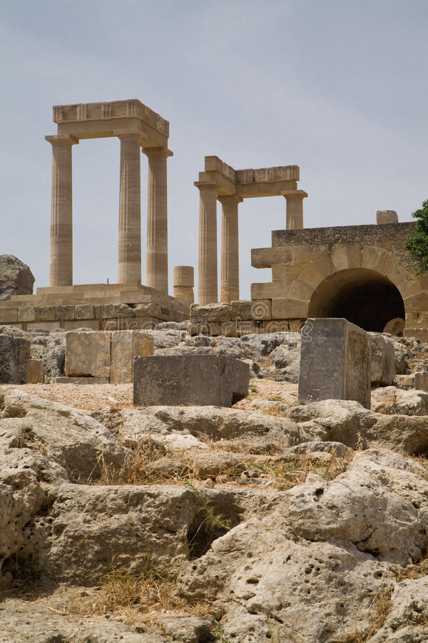 Acropoli Grecia di Lindos fotografia stock libera da diritti