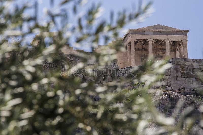 Acropolis, Atenas, Greece foto de stock