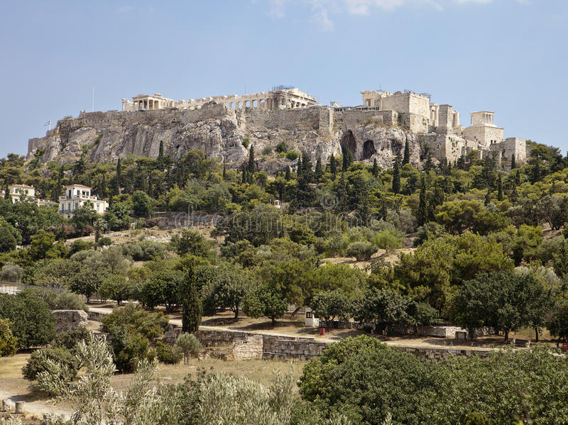 Download Acropolis From The Athens Agora Stock Image - Image: 27703001