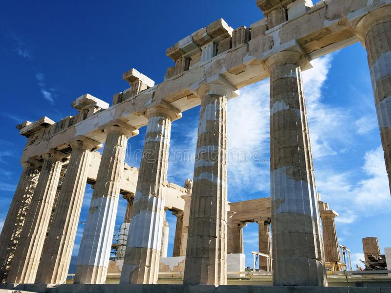 The Acropolis of Athens , Greece stock photos