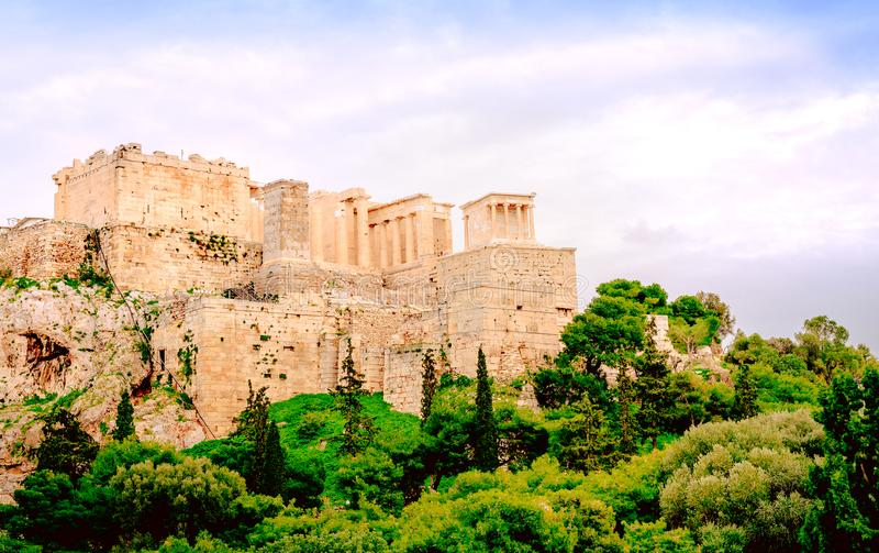Acropolis of Athens, architectural monument, tourist attraction. Tourism royalty free stock images