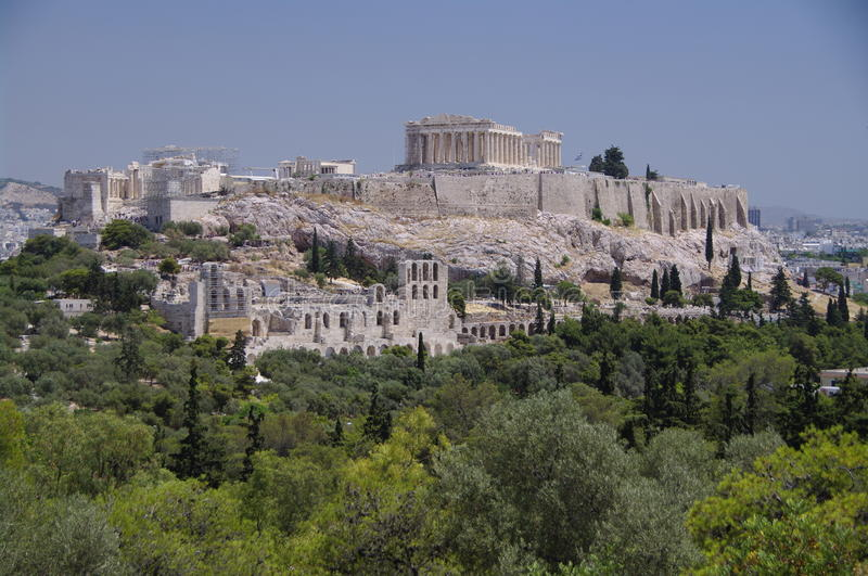 Acropolis of Athens, Greece royalty free stock image