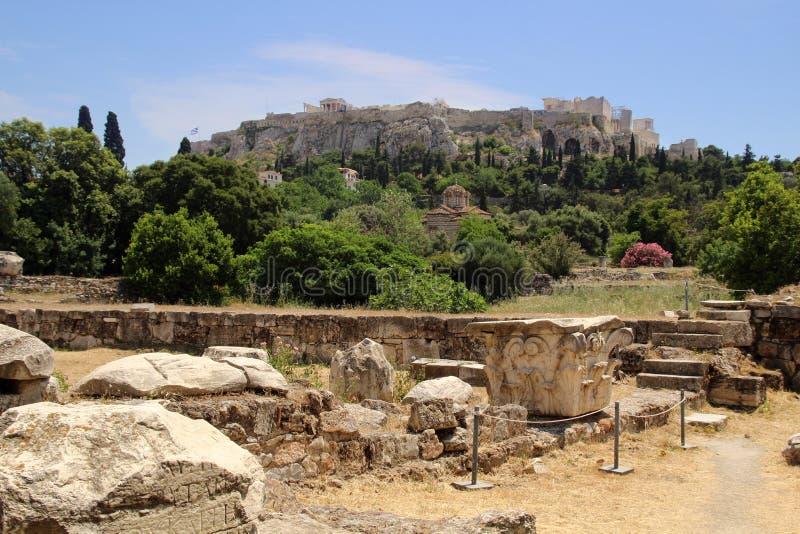 acropolis athens greece royaltyfri foto