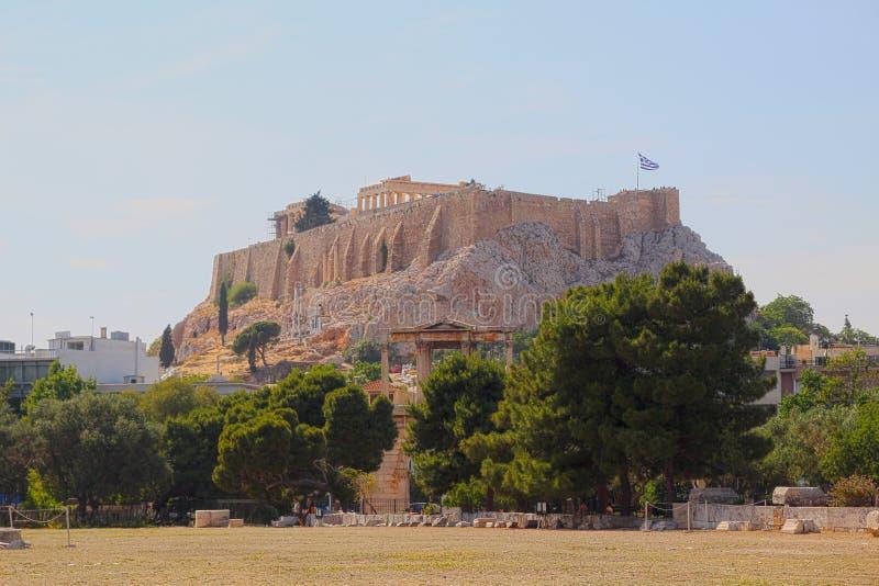 acropolis athens greece royaltyfri bild