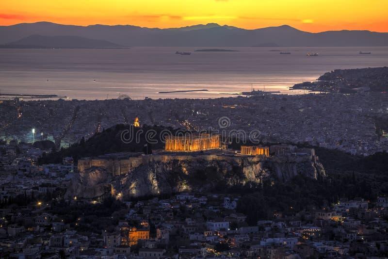 Acropolis of Athens, Greece royalty free stock photo