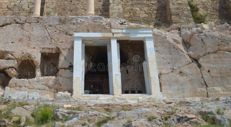 Acropolis in Athens, Greece on June 16, 2017. ATHENS, GREECE - JUNE 16: Acropolis in Athens, Greece on June 16, 2017 stock photography