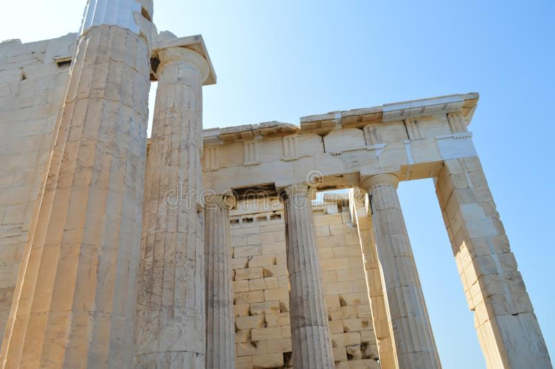 Acropolis in Athens, Greece on June 16, 2017. ATHENS, GREECE - JUNE 16: Acropolis in Athens, Greece on June 16, 2017 stock photo
