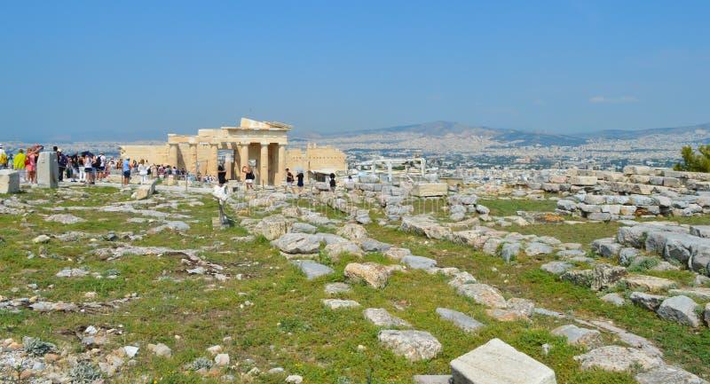 Acropolis in Athens, Greece on June 16, 2017. ATHENS, GREECE - JUNE 16: Acropolis in Athens, Greece on June 16, 2017 royalty free stock photo