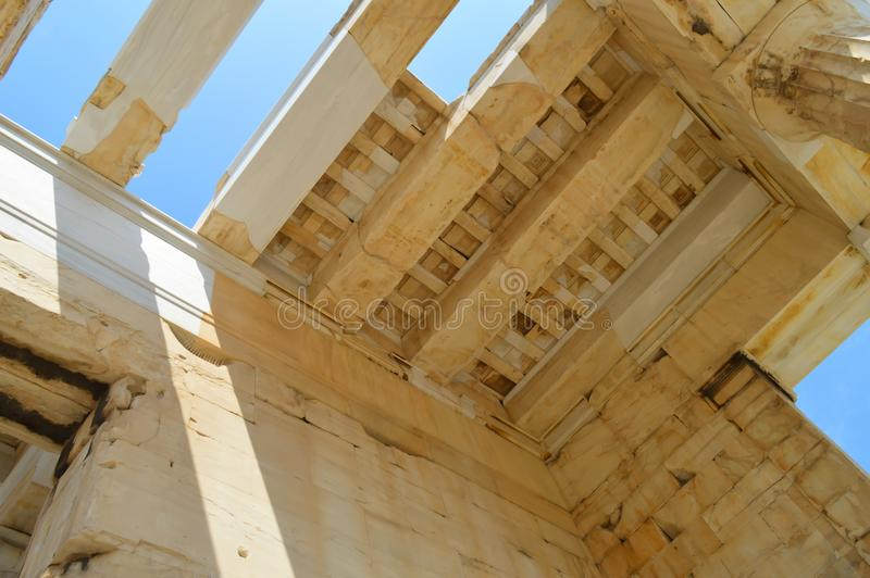 Acropolis in Athens, Greece on June 16, 2017. ATHENS, GREECE - JUNE 16: Acropolis in Athens, Greece on June 16, 2017 royalty free stock photography
