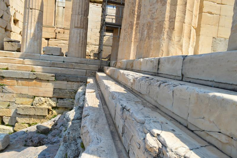 Acropolis in Athens, Greece on June 16, 2017. ATHENS, GREECE - JUNE 16: Acropolis in Athens, Greece on June 16, 2017 royalty free stock image
