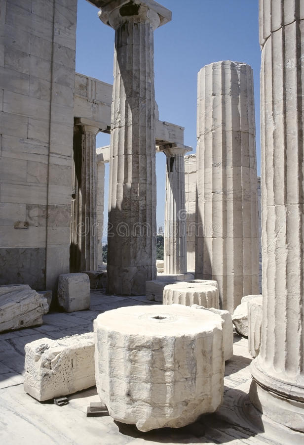 Download Acropolis of Athens ruins stock photo. Image of tourism - 25721036