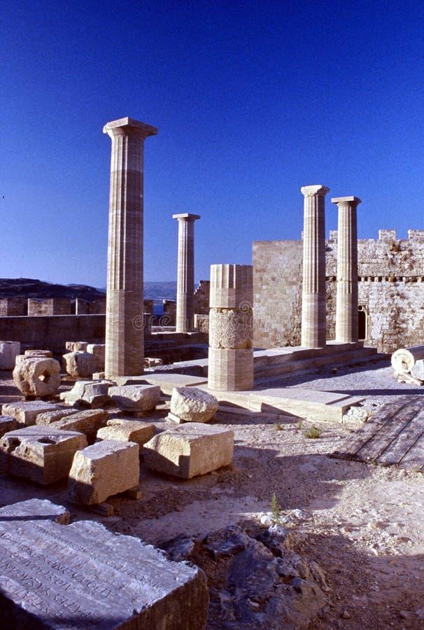 Acropolis de Lindos fotos de stock