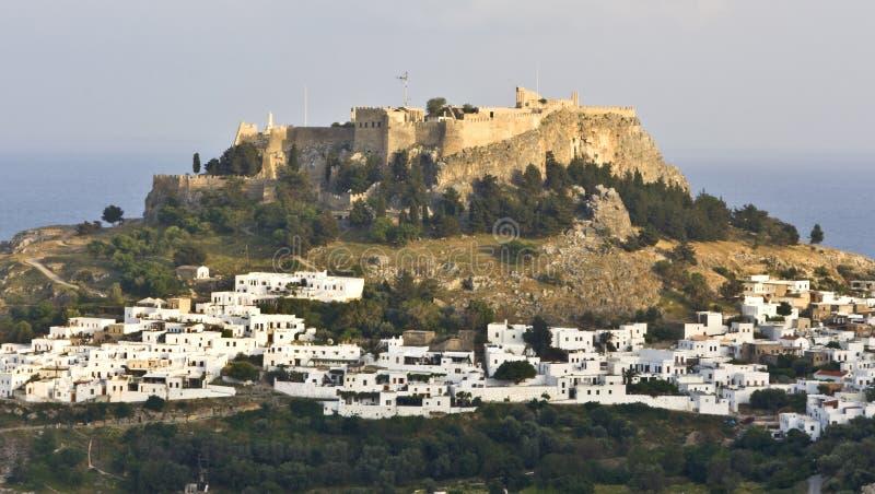 Acropolis Of Lindos, Rhodes, Greece Stock Image - Image ...