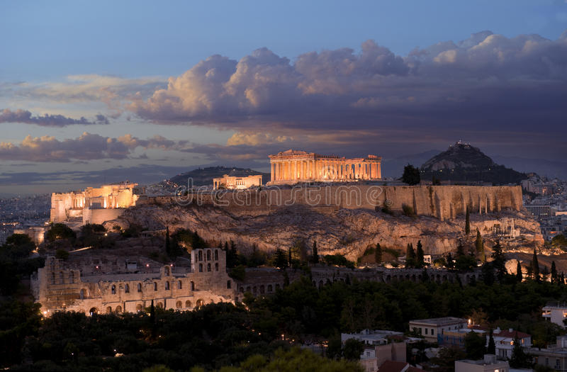 Acropolis monument in Greece stock image