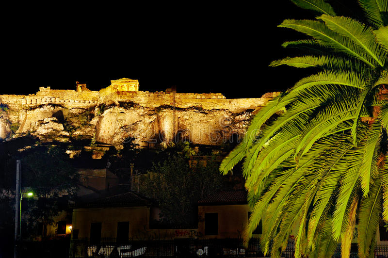 Download Acropolis at night stock photo. Image of travel, greek - 21511146
