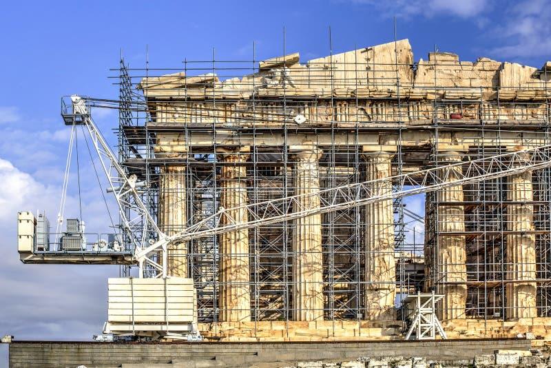The Acropolis Parthenon in Athens, Greece stock images