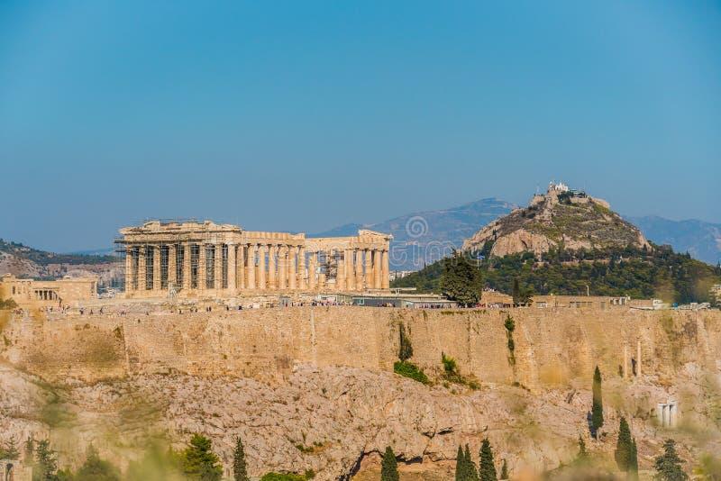 Acropolis and parthenon Athens Greece stock photo