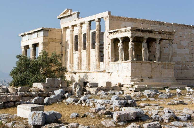 Acropolis, patamar das donzelas fotografia de stock