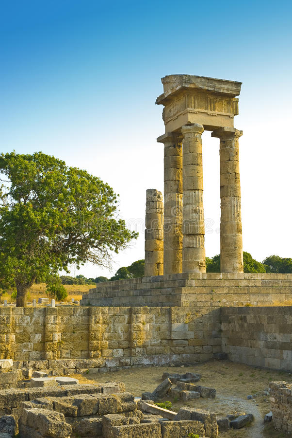 acropolis rhodes royaltyfria bilder
