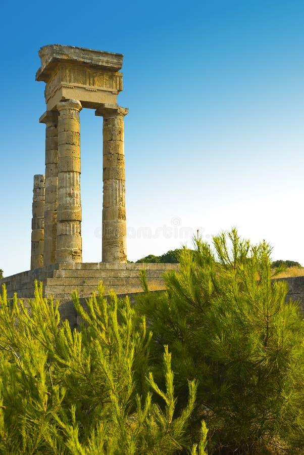 acropolis rhodes arkivfoton