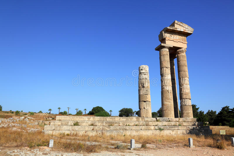 Download Acropolis on Rhodes stock photo. Image of marble, famous - 21282120