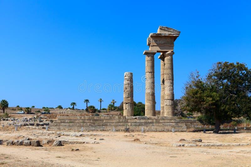 acropolis rhodes royaltyfria foton